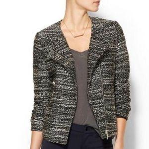 Piperlime Black White Tweed Moto Jacket